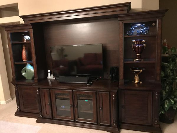 Key Town Entertainment Center 4 Piece Ashley Furniture For Sale In