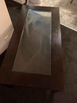 Dark brown coffee table Thumbnail