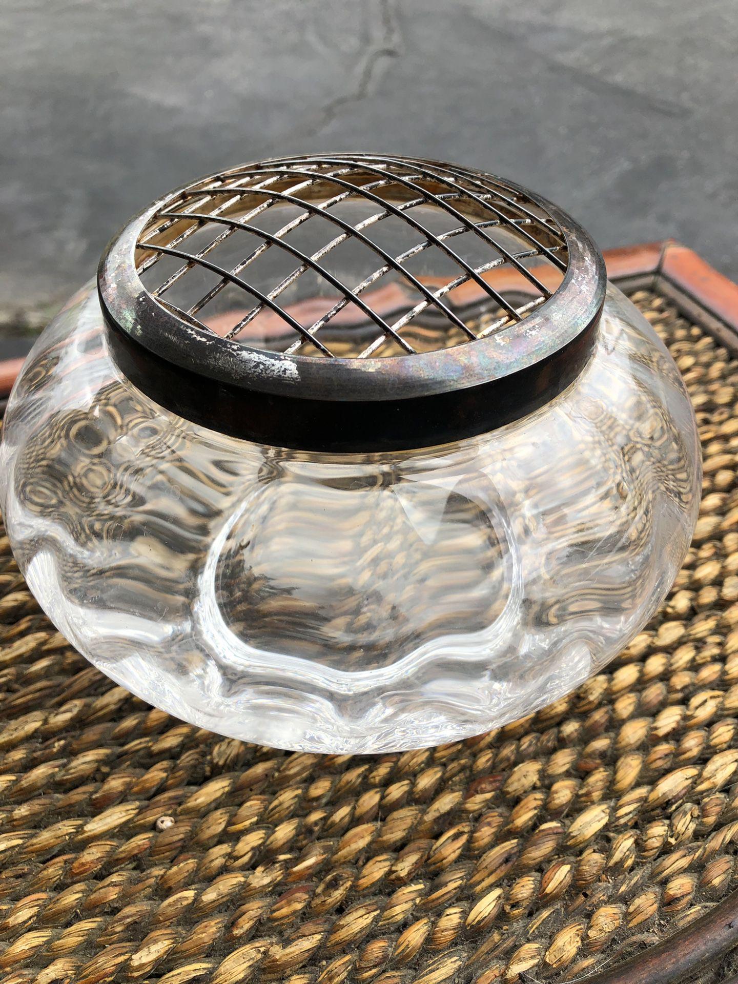 Vintage glass flower holder