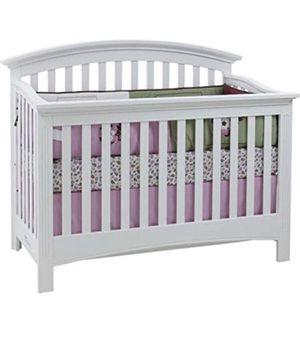 Solid wood White baby Crib for Sale in Manassas, VA