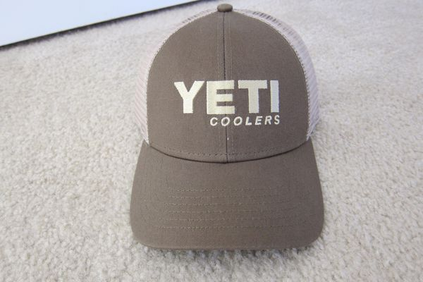 a7c868a3573 Yeti Cooler Olive Green Embroidered Adjustable Snapback Mesh Trucker Hat  Cap NWOT
