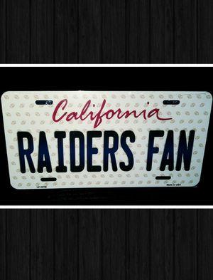 RAIDERS FAN METAL LICENSE PLATE for Sale in Las Vegas, NV