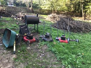 """as is"" land mowers, grill, wheelbarrow for Sale in Lincolnia, VA"
