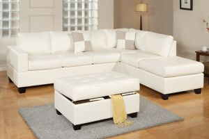 Sectional with ottoman available colors white black brown for Sale in Hialeah, FL