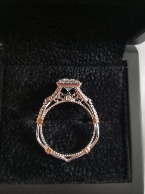 14k White Gold Verragio Engagement Ring, 1.03ct Princess Cut Diamond for Sale in Frederick, MD