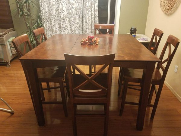 Solid wood dining room table with 6 chairs for Sale in Tucson, AZ ...