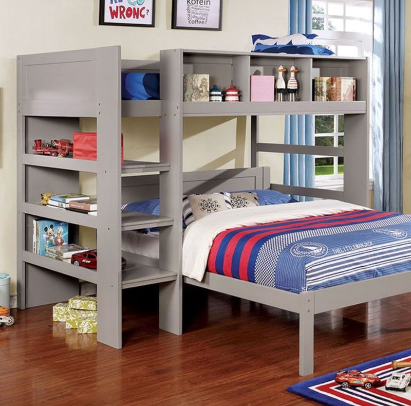 Twin Loft with Full Bunk Bed