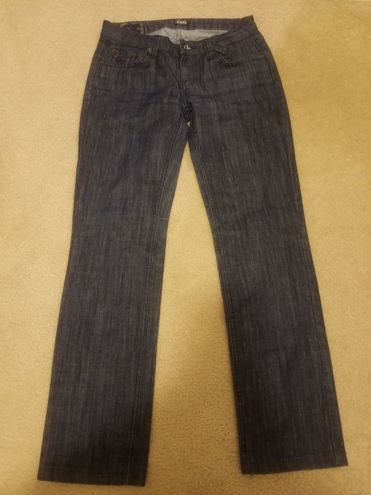 D&G dolce gabbana 28 women's jeans straight