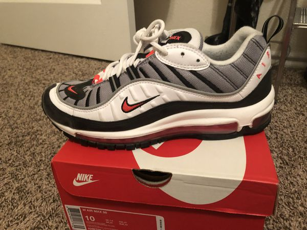 more photos 54753 3eb90 Nike air max 98 solar red size 8.5 men's/10 woman's for Sale in Dallas, TX  - OfferUp
