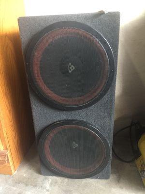 Photo Cerwin Vega 12 inch speakers custom made box