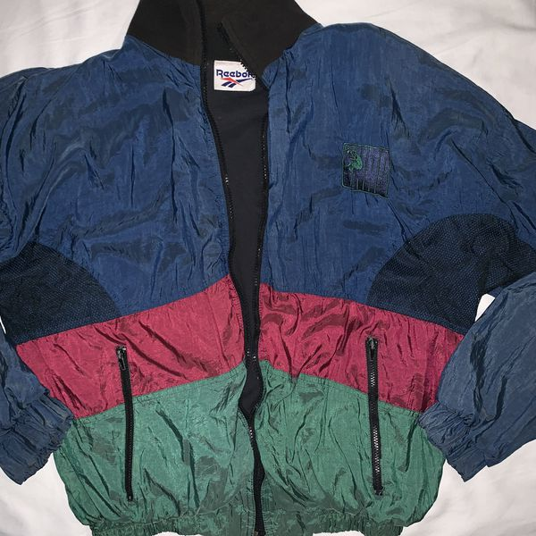 97c17ae026cc Vintage Mens Reebok Shaq Windbreaker Track Jacket Shaquille Color block  Large