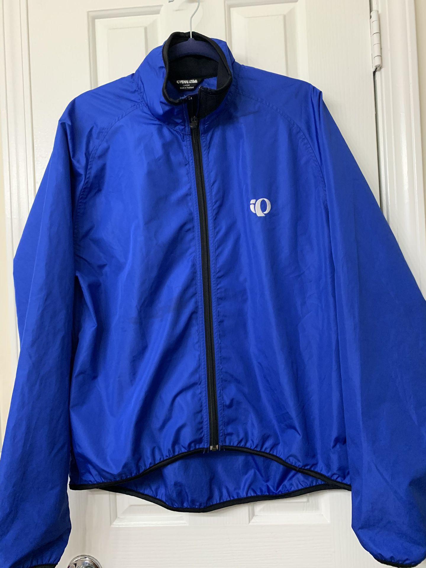 Pearl Izumi Winter Jacket Cobalt Blue & Black Sz L