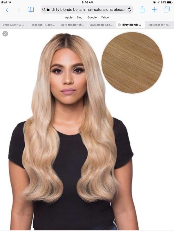 Bellami Dirty Blonde Hair Extensions And Ponytail Beauty