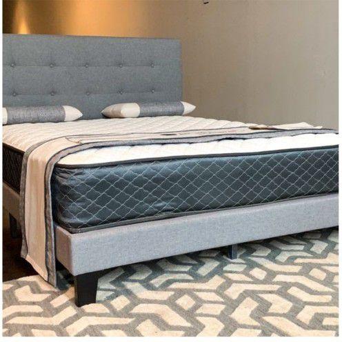 Queen Gray Milan Platform Bed And Mattress (SE HABLA ESPAÑOL) FREE DELIVERY!!