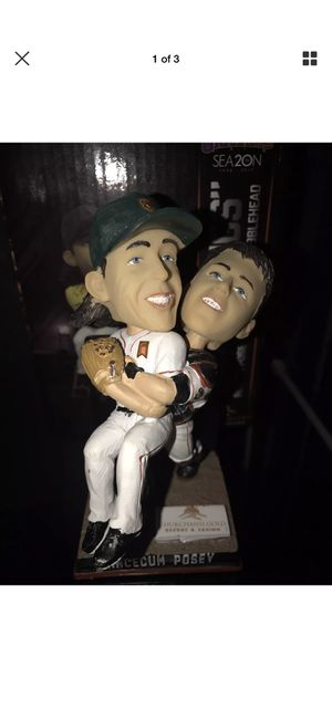 Buster Hugs Lincecum and Posey bobblehead for Sale in San Francisco, CA