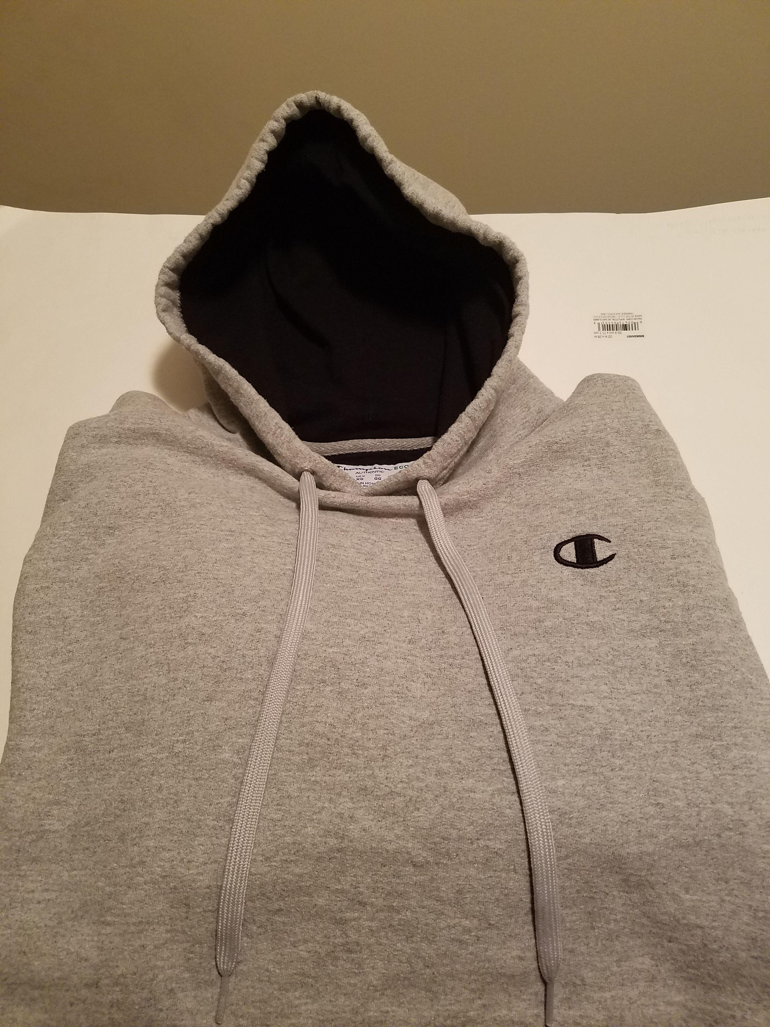 XL champion hoodie grey