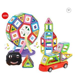 smart valley puzzle magnetic building blocks charge remote control car 52 sets of magnetic building blocks children electric By From thormall.com for Sale in Chicago, IL