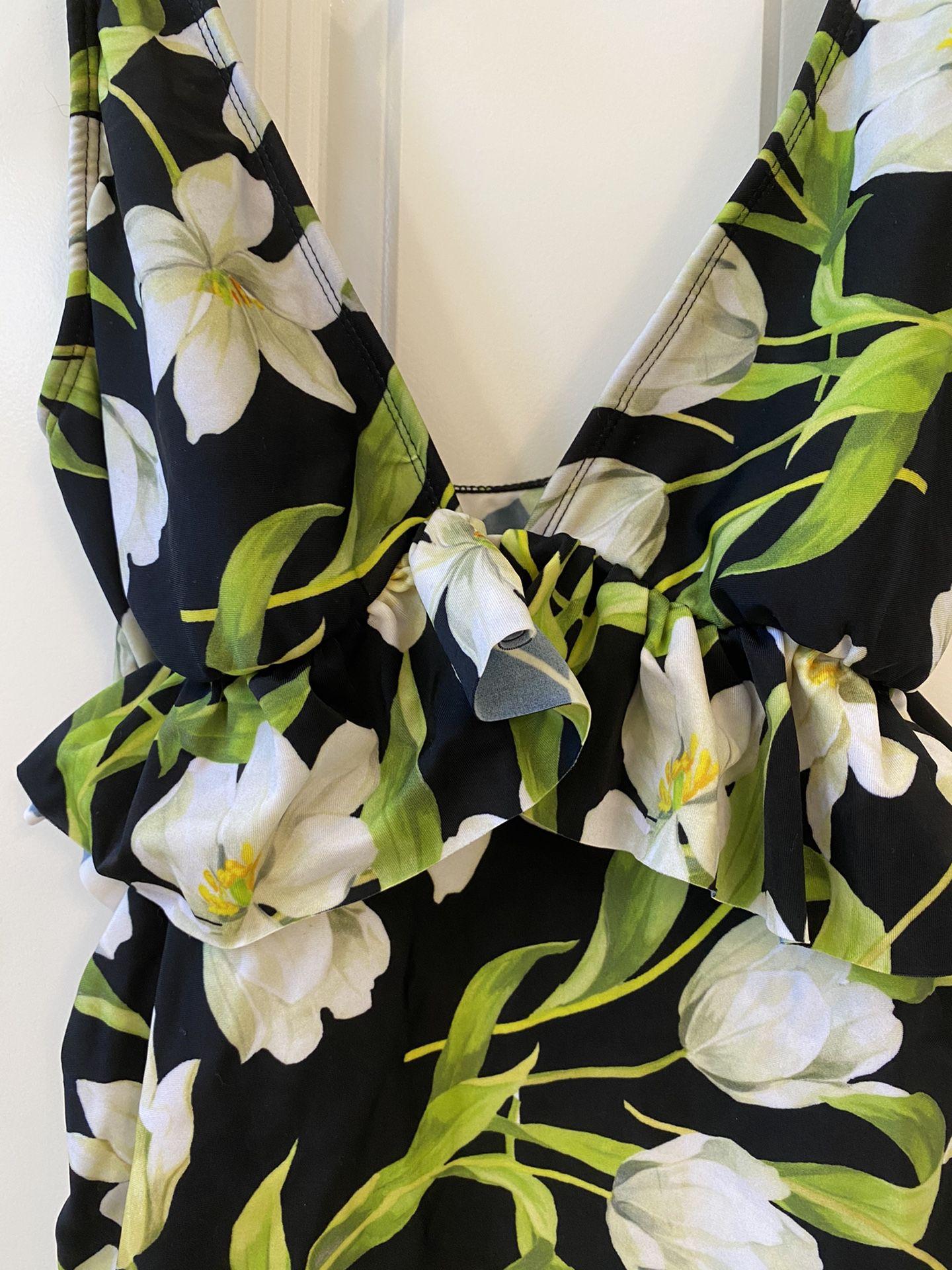 Floral Bathing Suit Top