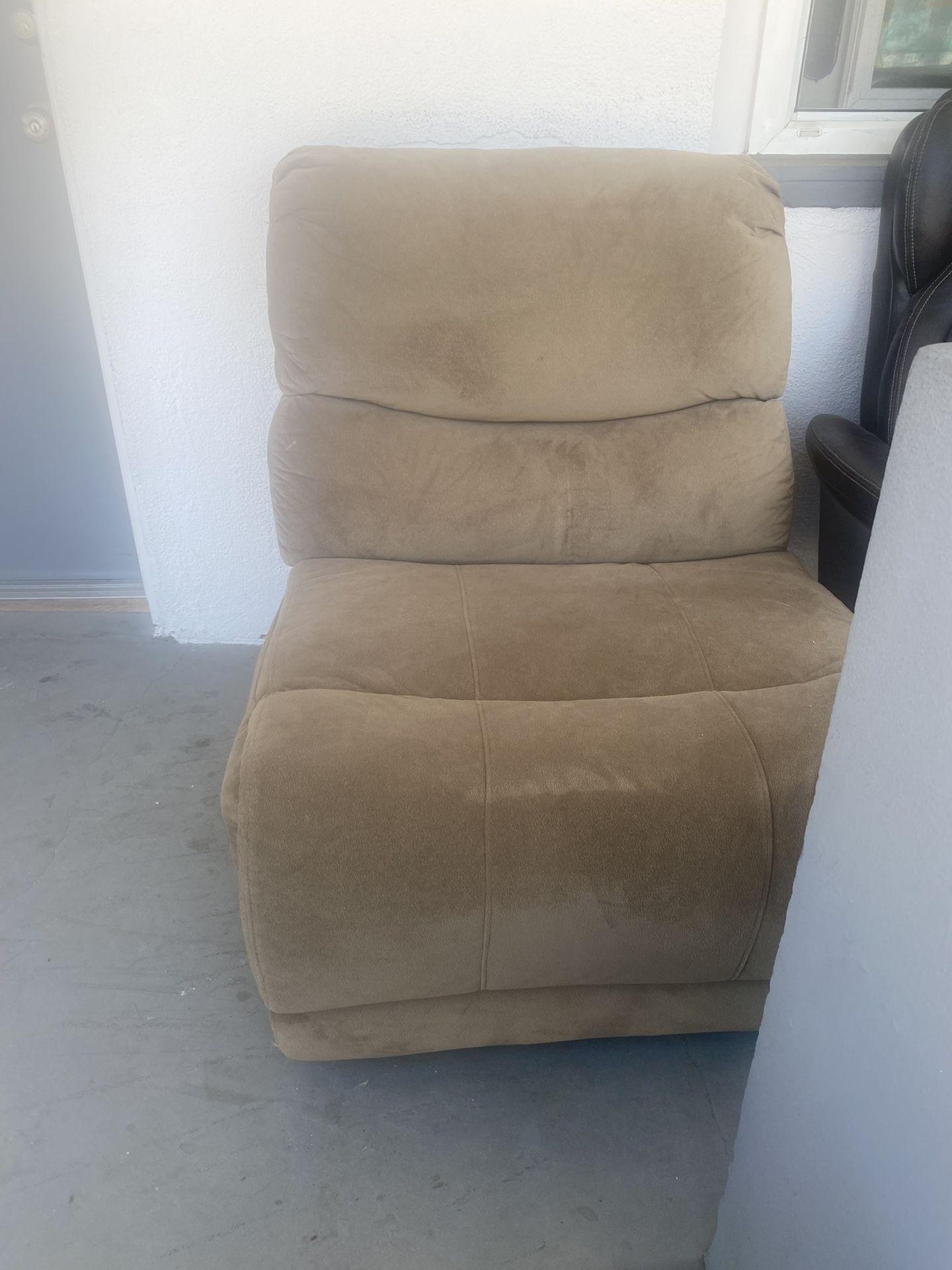 Light Brown Corner Sofa (2 pieces)