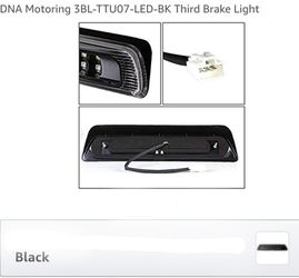 07-18 Toyota Tundra 3D LED Bar 3rd Third Brake Light Rear Cargo Lamp (Black / Smoked Thumbnail