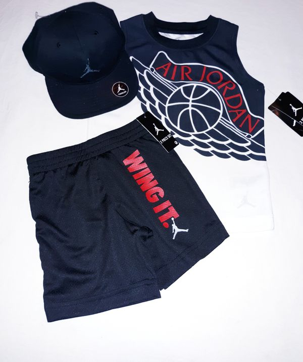 784c523b5a5 Jordan Boys Toddler 3pc Short Set With Cap - 3T for Sale in Houston ...