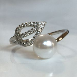 Sterling silver plated pearl leaf ring jewelry for Sale in Silver Spring, MD