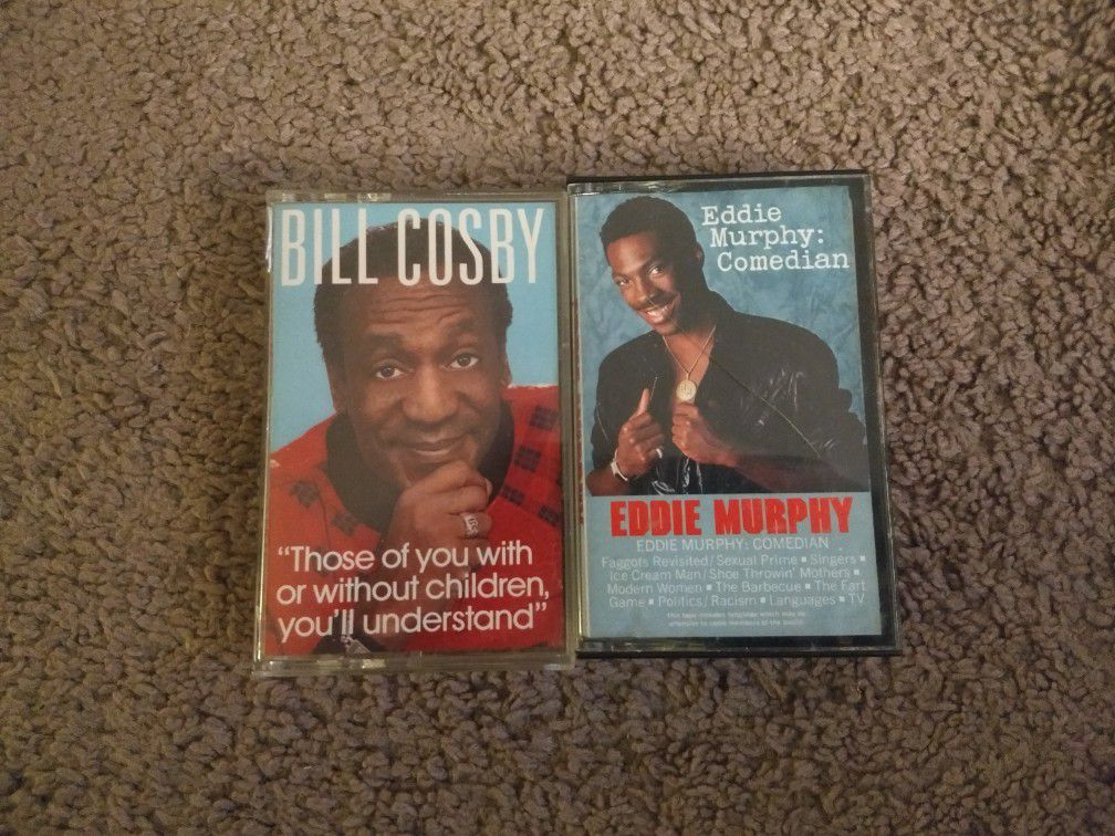 Bill Cosby/Eddie Murphy Classic Comedy Cassette Tapes