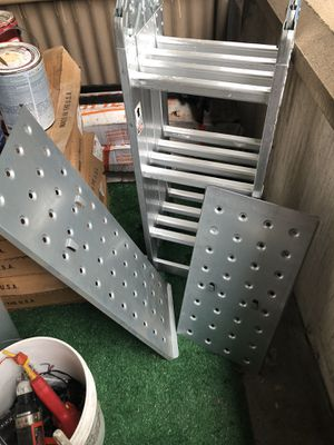 Heavy duty folding ladder 4 in 1 for Sale in Lincolnia, VA