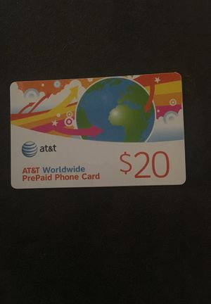 AT&T pre-paid phone card w/ $8.20 on it for Sale in Alexandria, VA