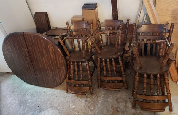 - ANTIQUE KITCHEN TABLE & 6 CHAIRS (Antiques) In San Jose, CA - OfferUp