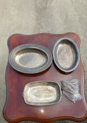 silver plated dishes for Sale in St. Peters, MO