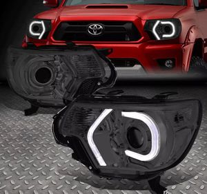2012~15 Toyota Tacoma smoked 3D LED U-Bar Projector headlights 🚚🚚 for Sale in Montebello, CA