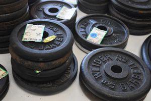 "Photo Vintage Adjustable Dumbells/1"" Weights"