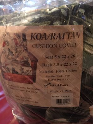 Brand New Never Used Koa Rattan Cushion Covers For In