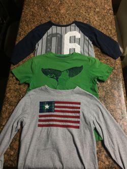 Boys Gymboree, green short sleeve, 3/4 sleeve and long sleeve Size 7 Thumbnail