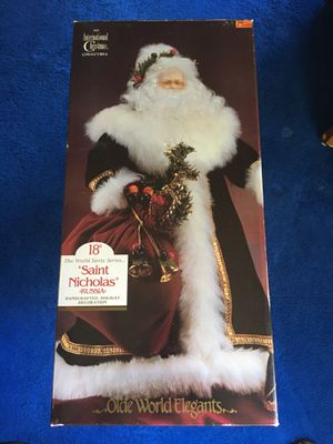 Christmas Saint Nicholas 18 inch collectible for Sale in Herndon, VA