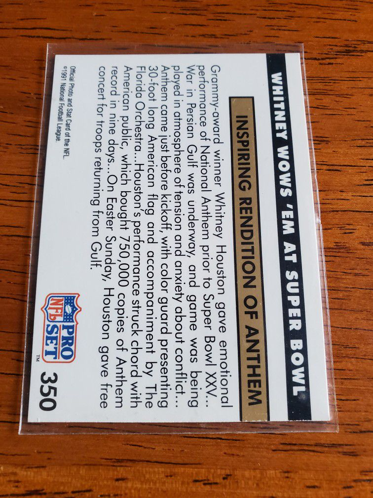 Whitney Houston Superbowl Card