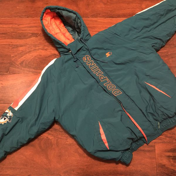 huge discount c4a83 a77a5 Miami Dolphins. Starter jacket (2XL) for Sale in Greenwood, IN - OfferUp