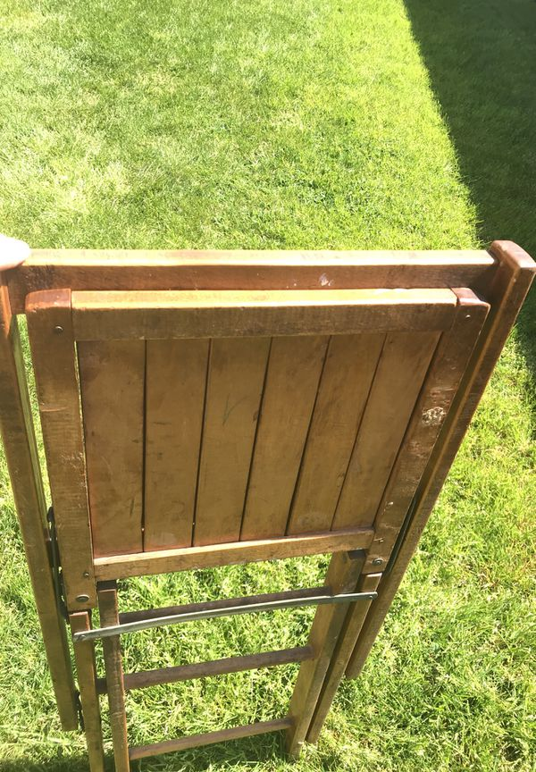- Antique Wood Folding Chair (Antiques) In Salem, OR - OfferUp