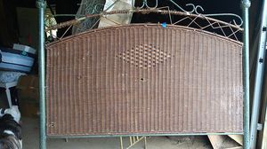 Photo Used wicker metal headboard