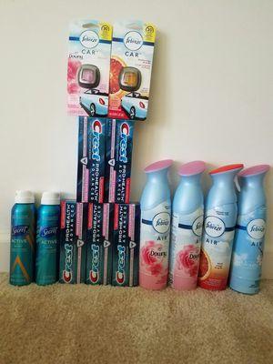 Household toothpaste febreze secret bundle - $30 firm for Sale in Rockville, MD