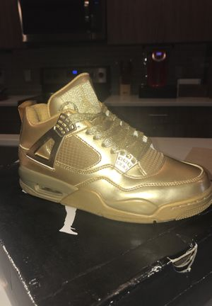 Tyrant Gold Jordan 4s Limited edition sz 8.5m for Sale in Nashville, TN