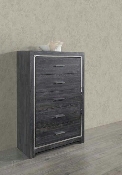 HOT DEAL] Alessia Gray Queen Headboard Bedroom Set
