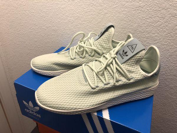 e8a1445e20bd4 Adidas X Pharrell Williams Tennis HU Linen Green Tactile Green CP9765 Men  Sz 8
