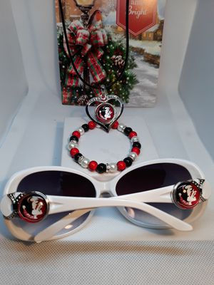 Florida Seminoles Sunglasses and Necklace set for Sale in Jacksonville, FL