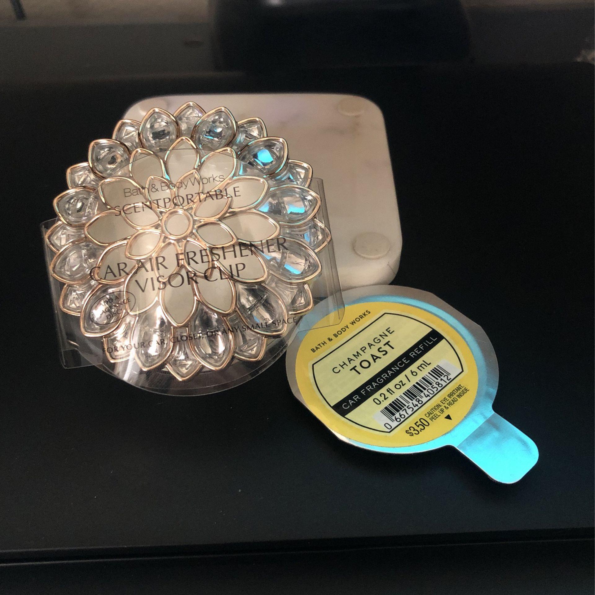 Bath & Body Works Scentportable Visor Clip W/ Refill