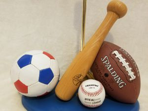 SPORTS THEMED LAMP BASE, REAL BALLS for Sale in Scottsdale, AZ