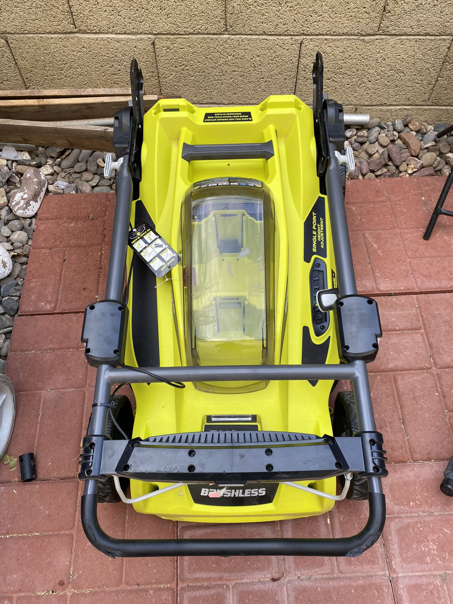 "Ryobi 20"" 40V Lithium walk-behind Push Mower w/ battery and charger"