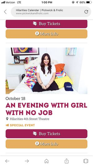 Girl with No job Tickets- Hilarities/Cleveland for Sale in Cleveland, OH