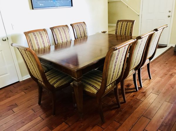 Ethan Allen Townhouse Dining Table For 10 With China Cabinet Sale In Windermere FL